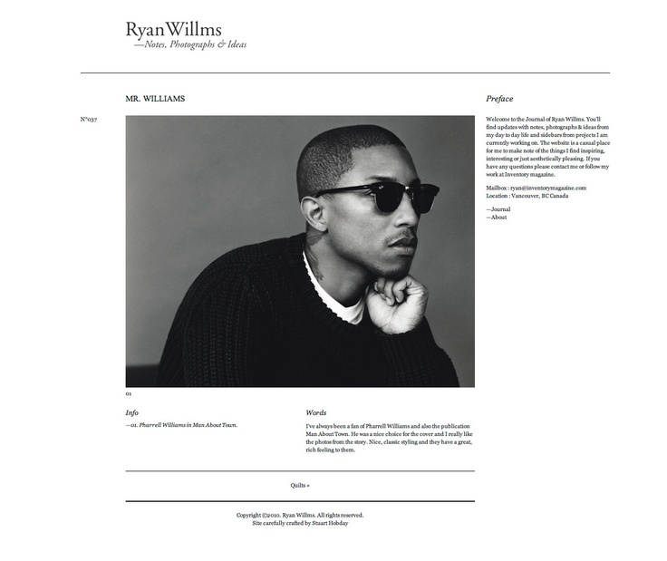 http://www.ryanwillms.com/journal/mr-williams.html > clean! <3!