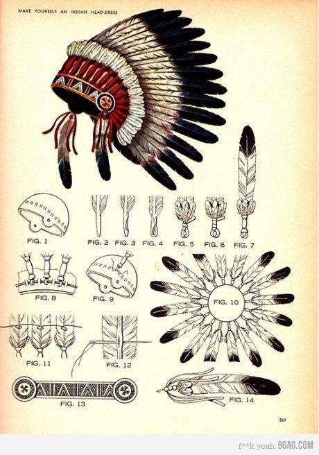 tocado indio norteamericano