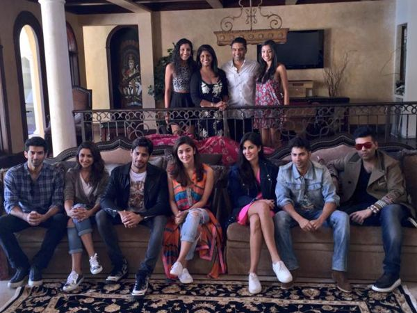 Karan Johars Dream Team caught in a picture perfect moment