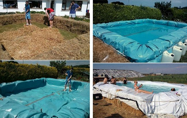 25 Best Ideas About Hay Bale Pool On Pinterest Building A Swimming Pool Fun Things To Buy
