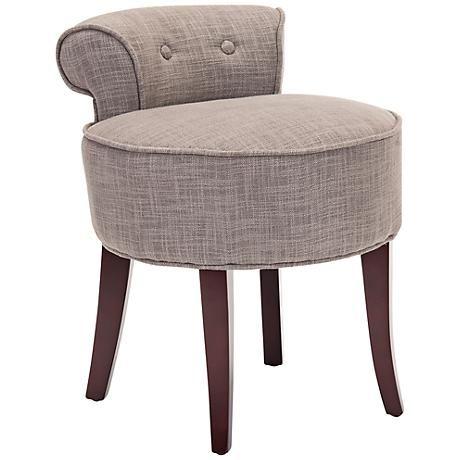 Seiling Tufted Petite Upholstered Vanity Stool