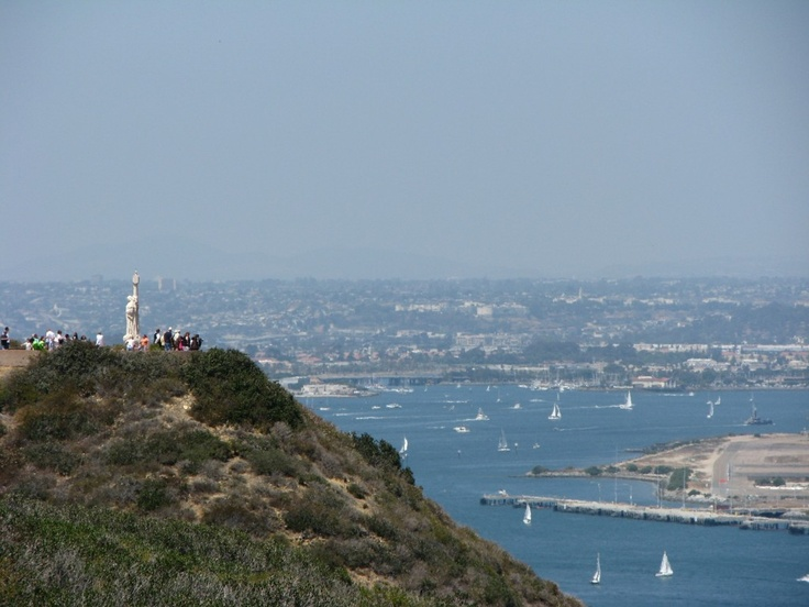 Cabrillo National Monument Best Views of the Downtown area, North Island and Sail Boats.