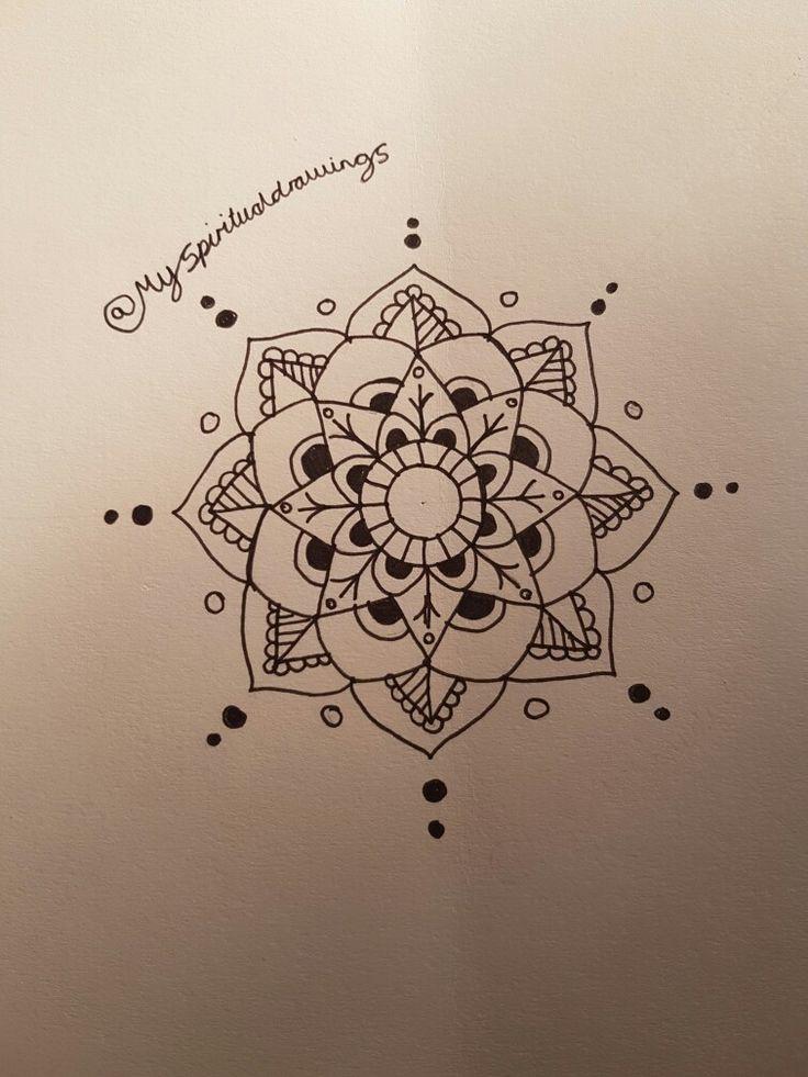 Small mandala #mandala #drawing #art #pretty #indian #spiritual #black #white #pretty #henna #design