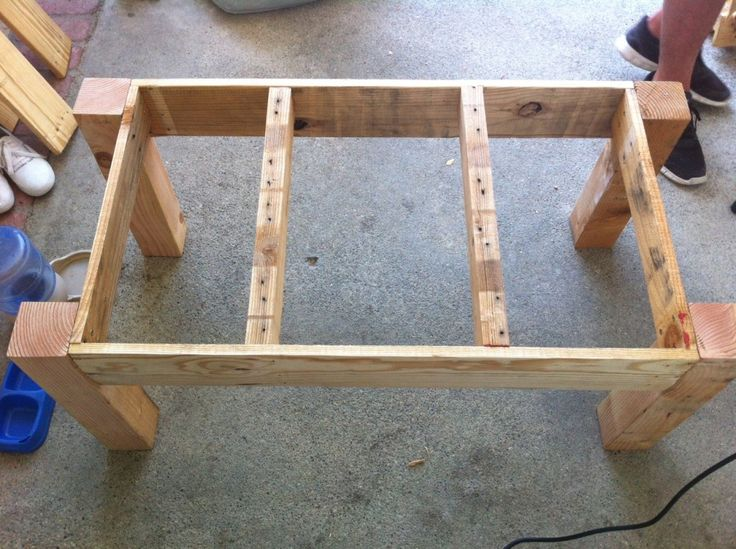 Pallet coffee table frame | Things to make out of pallets | Pinterest