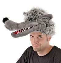 Big Bad Wolf Hat For Kids Or Adults - Wolf Costume Accessories