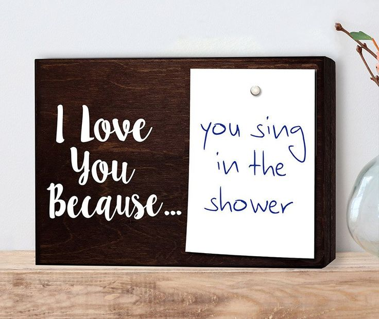 I love you because note holder : This is a fun way to send little messages to your loved ones. Great for husbands and wives or boyfriends and girlfriends. Also, makes a great little sign for a kids ro