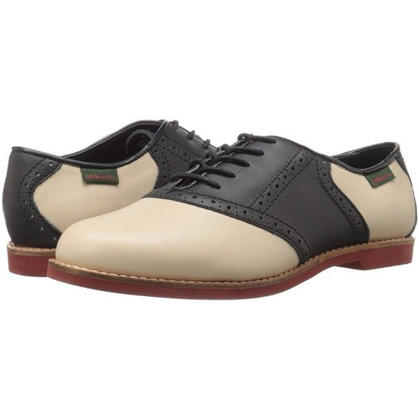 G.H. Bass Co. Women's Enfield Oxford ($62) ❤ liked on Polyvore featuring shoes, oxfords, wide shoes, g.h. bass & co. shoes, wide fit shoes, wide width shoes and oxford shoes
