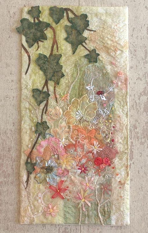 Le printemps façon Ina Statescu - patchwork - art textile - Tatiana Alves