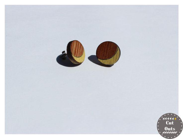 Geometric earrings. Half-moons. by CutOutsProductDesign on Etsy