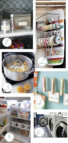 organizing: Organic Tips, Creative Households, Organizing Tips, Organic Ideas, Ribbons Storage, Cleaning Organic, Household Tips, Diy, Households Tips