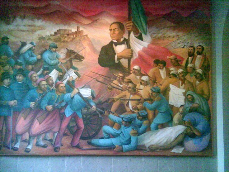 Mural relativo a La Batalla de Puebla en el Castillo de Chapultepec