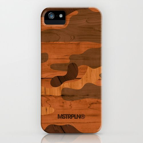 Modern Woodgrain Camouflage / Woodland Print by MSTRPLN®