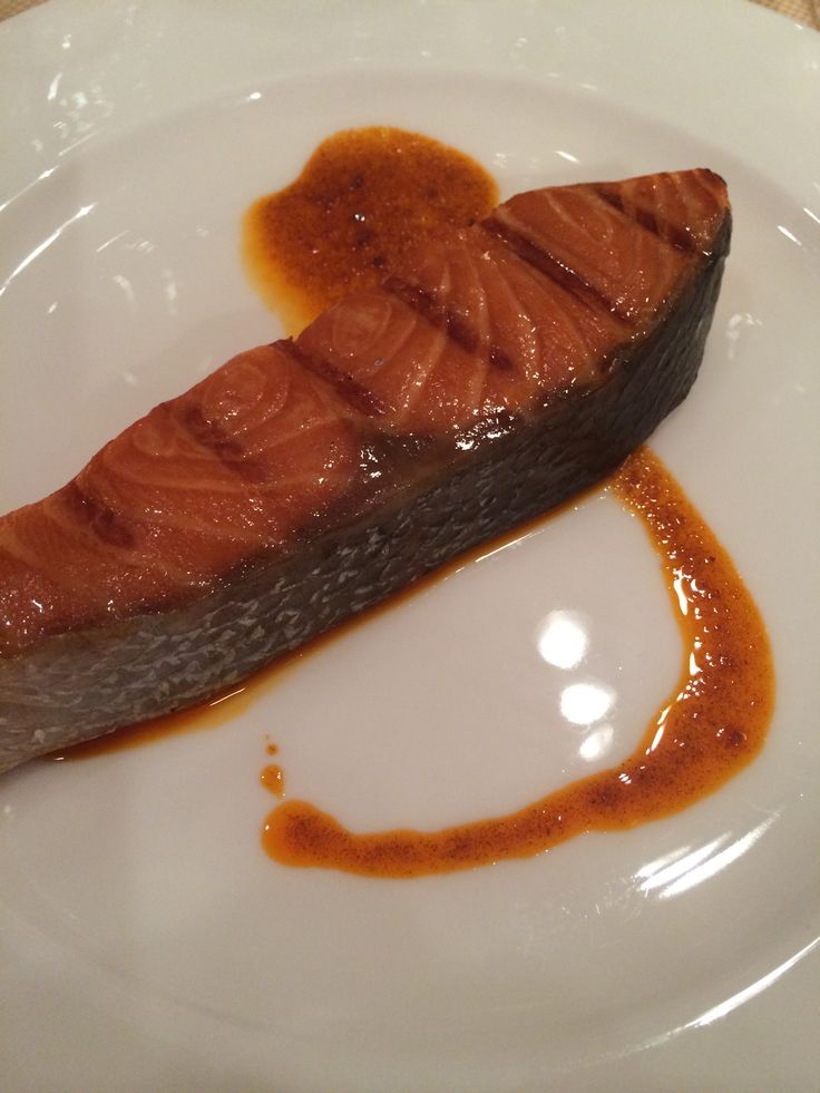 "Cooking with Miso: marinated (2 to 4 hrs) grilled salmon Fushiki san at La Cucina Italiana ""miso class"""