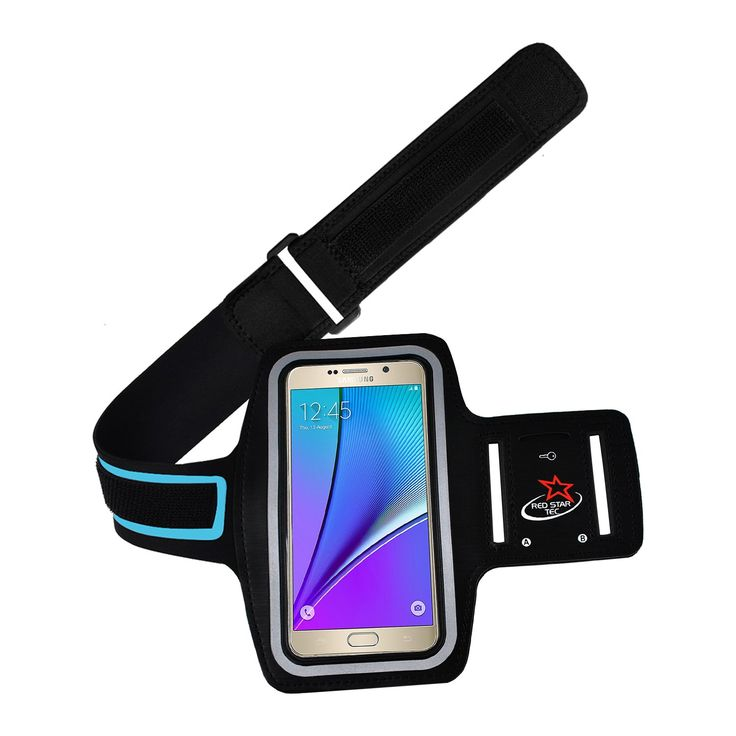 """Samsung Galaxy Note 5 & Note 4 Running Armband with Extender Armband Strap By Red Star Tec. **CYBER MONDAY OFFER** Designed Specifically for The Samsung Galaxy Note 5, Note 4, Note 3 and Note 2 smartphones and large enough to hold most phones with screens up to 5.7"""", including the iphone 6 plus phone. For the 1st time You won't have to worry if the armband is long enough as the Samsung Note 5 armbands comes with a 8"""" extension strap worth $ 8.97. If your arms are larger than 14"""" then you..."""