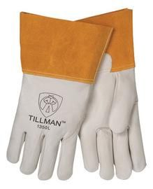 """Tillman™ Medium Pearl Top Grain Cowhide Unlined Standard Grade MIG/TIG Welders Gloves With Wing Thumb, 4"""" Cuff, Seamless Forefinger And Kevlar® Lock Stitching"""