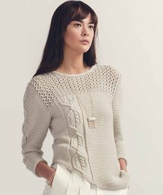 Пуловер с ажурной кокеткой Iclyn Дизайнер Анна Харрис.