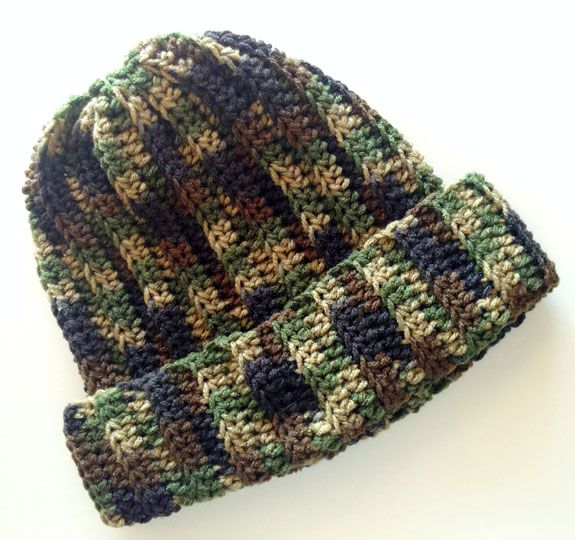 Crocheted Camo Beanie Totally Making This For Joel This