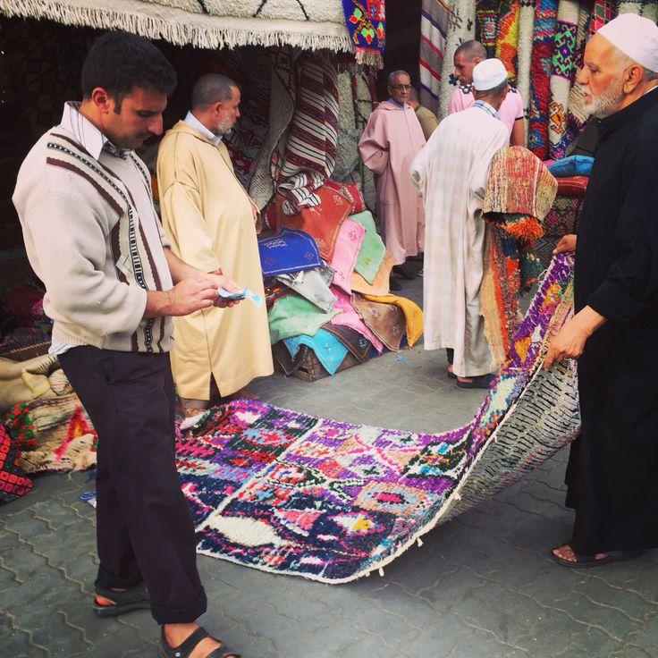 Carpet deals in The Marrakech Souks