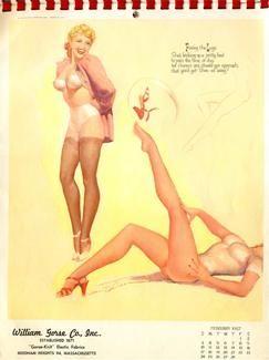 Earl MacPherson 1955 Sketch Book Calendar February