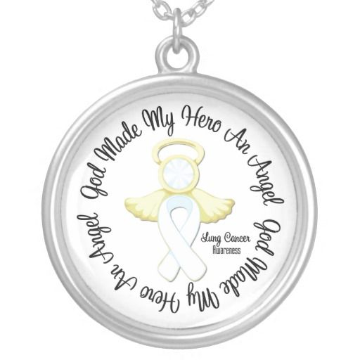 Lung Cancer God Made My Hero An Angel Necklaces