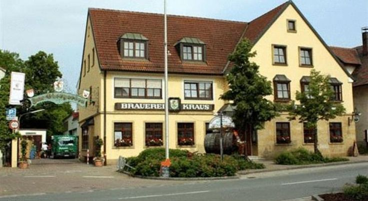 Brauerei Gasthof Kraus Hirschaid This guesthouse enjoys charming surroundings and offers guests home-brewed beer in addition to comfortable rooms. The shady beer garden invites you to enjoy lovely rustic meals accompanied by a good measure of beer.