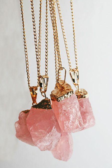 Colar Pedra Quartzo Rosa