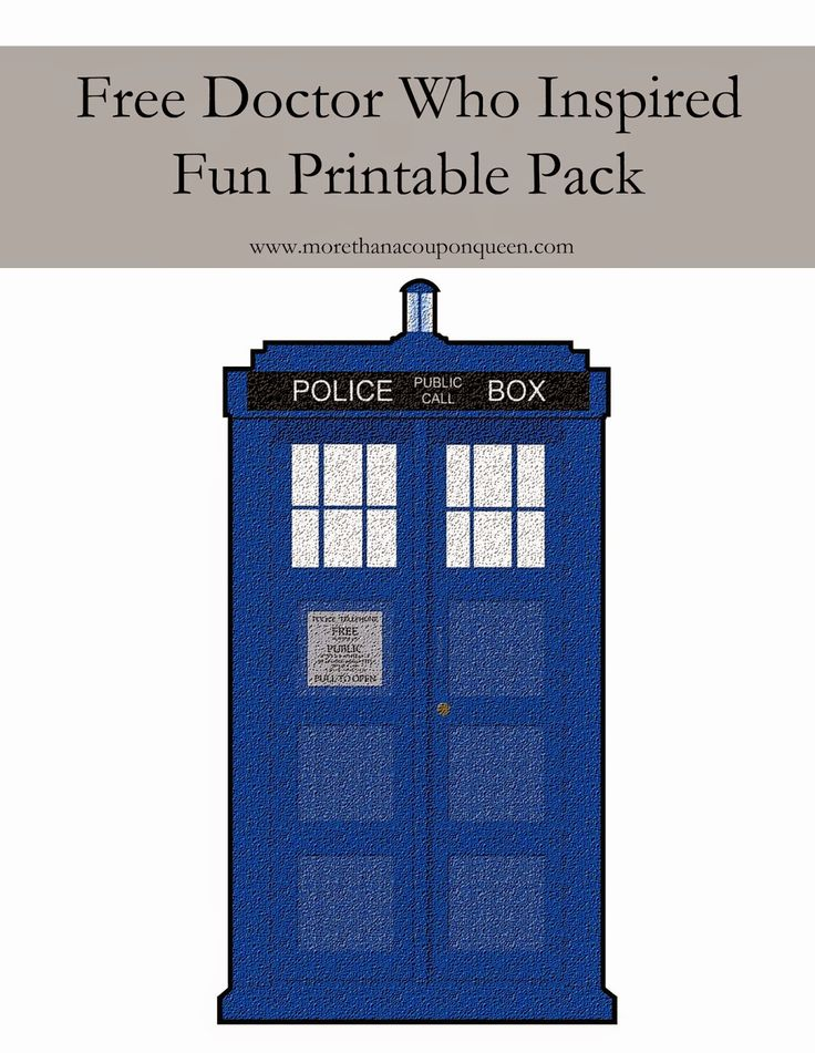 More Than A Coupon Queen : Free Doctor Who Themed Printables!