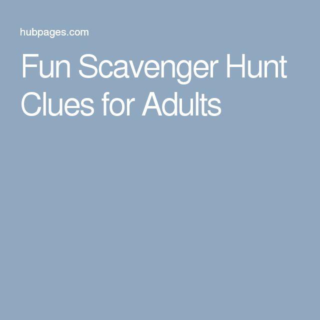 25+ Unique Adult Scavenger Hunt Ideas On Pinterest