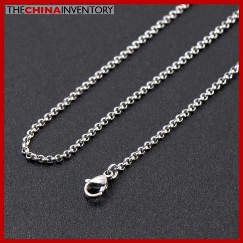 GIRLS 36` STAINLESS STEEL CABLE CHAIN NECKLACE N2607