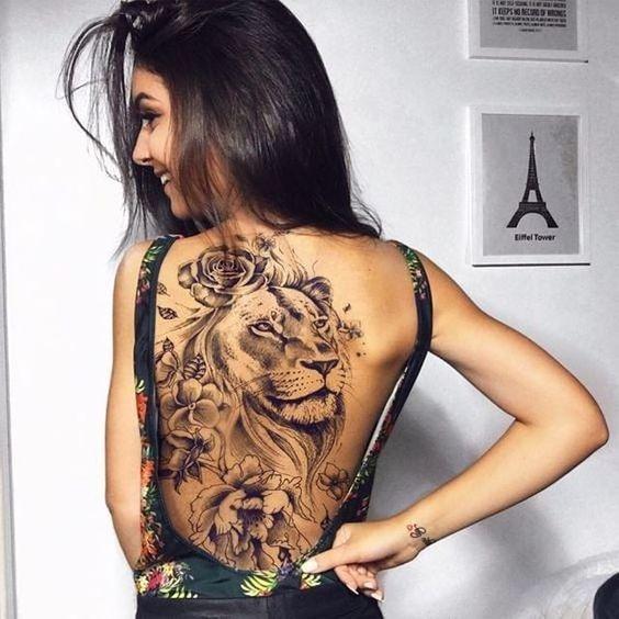 tolle Löwen Tattoo Ideen für Frauen …
