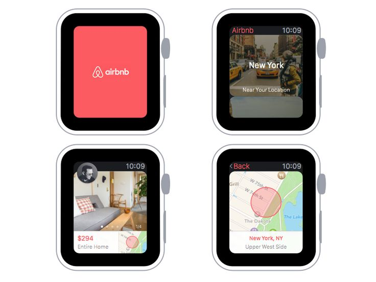 Airbnb for Apple Watch by Alex Vanderzon
