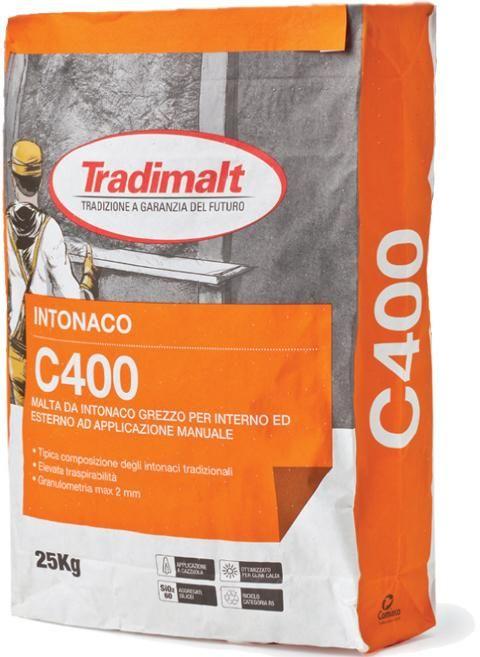 C 400 - Intonaco isolante malte intonaci edilizia premiscelati cementizi