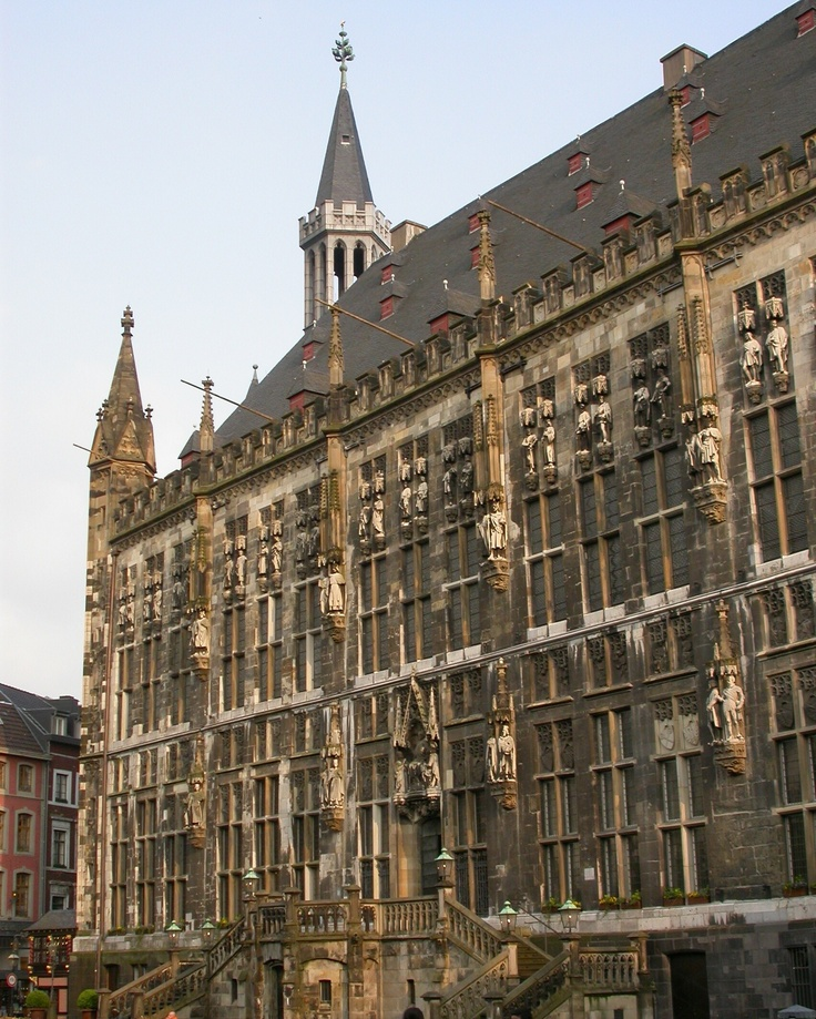 Stadhuis (City Hall) Aachen (Duitsland, Germany)