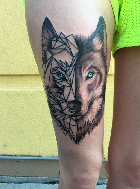 Tattoos mit geometrischen 44 Fotos von Tattoos mit der Technik der Geomet …  – Tattoo