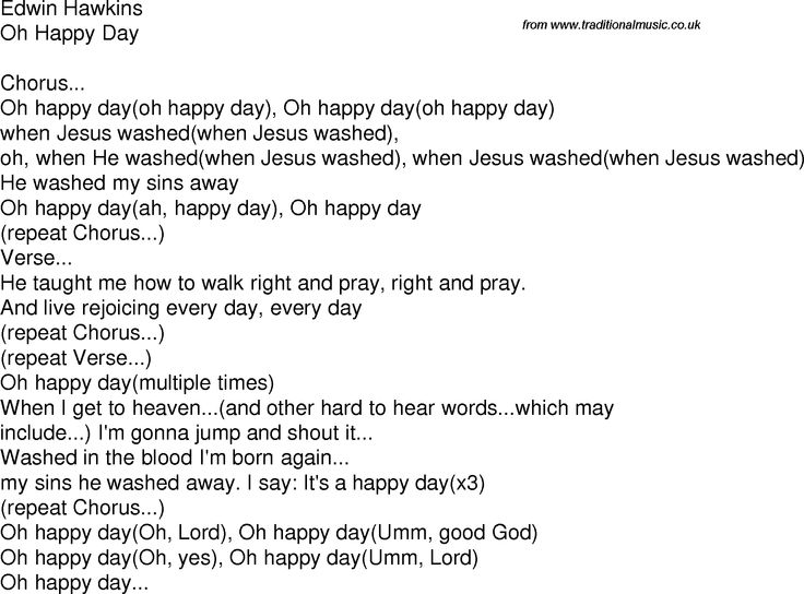 [Sister Act II] Oh Happy Day (Lyric) http://www.traditionalmusic.co.uk/gospel-lyrics/png/000600edwin_hawkins-oh_happy_day.png