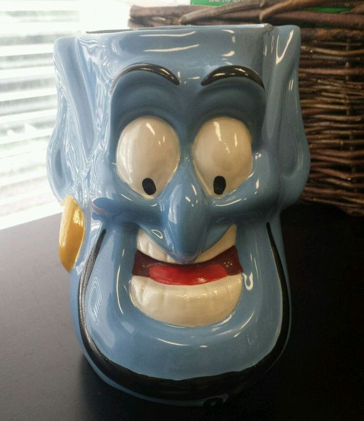 Disney Aladdin Genie blue 3D coffee mug cup
