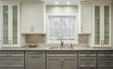 The Upper Cabinets Are Benjamin Moore Cc 40 Cloud White