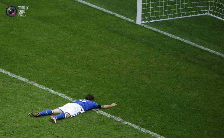 Italy's Marchisio reacts after missing to score a goal against Germany during their Euro 2012 semi-final soccer match at the National Stadium in Warsaw . LEONHARD FOEGER/REUTERS