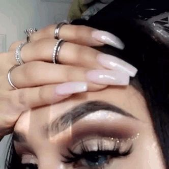 Nails and makeup is on fleek to a T