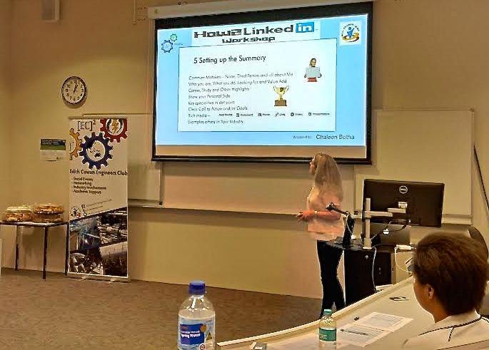 Presenting How2LinkedIn at Edith Cowan University