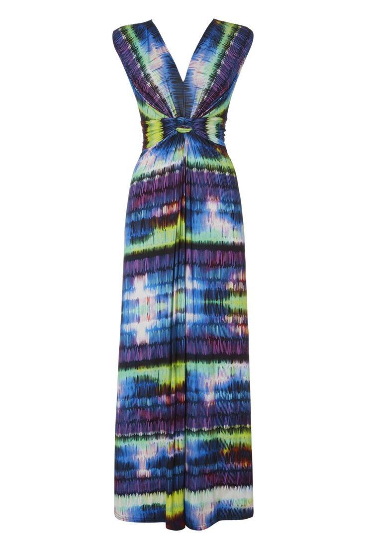 Love flower power daisy graffiti print cotton fabric 60s 70s retro - Psychedelic Print Maxi Dress