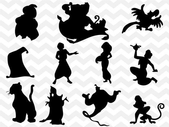 Disney Bundle Svg Aladdin Svg Princess Jasmine Svg Genie Svg