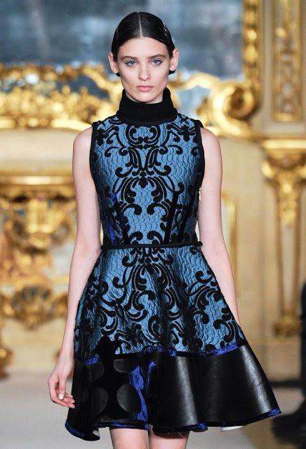Baroque print dress-Aquilano RImond Fall 2011