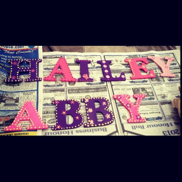 Hand painted wooden letters #madewithlovebyjen