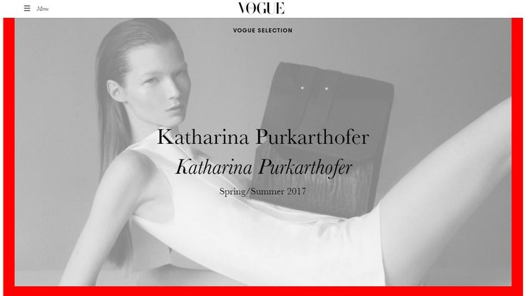 I just found out that my collection is currently featured on Vogue Italia - what an honour. Find all my bags here: http://www.katharinapurkarthofer.com/collection-shop/