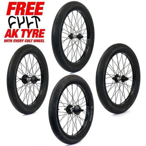 Best value wheels!! Get a free @cultcrew AK ( @ak4everett13 signature ) tyre with every @cultcrew complete wheel purchase. Front male & female cassette or freecoaster wheels available. Tube not included while stocks last. Link in bio. #cultcrew #bmx #bmxwheel #bmxwheels #cultmatch #freecoaster #aktires #bmxtires #bmxtyres #aktyres #bmxshop #bmxstore http://ift.tt/2kY00Qi