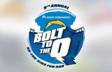This logo was designed for an annual marathon held at Qualcomm Stadium in San Diego, California and hosted by the NFL San Diego Chargers.
