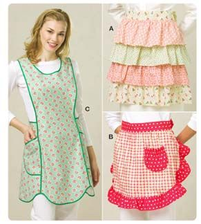 Kwik Sew® Ladies Aprons-Kwik Sew® Ladies Aprons..easily draped/sketched pattern  rather than buy it.