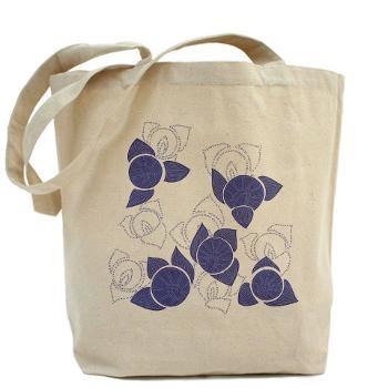 Flower purple Tote Bag By Elisa Viotto Arte