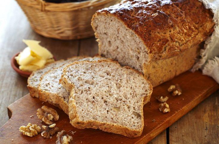 Oppskrift på eltefritt brød med valnøtter